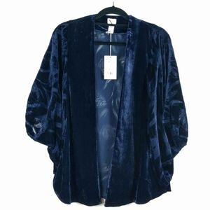 NWT A New Day Velour Kimono OSFM